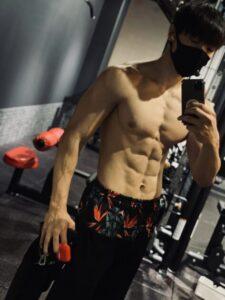 腹筋トレーニング後の体