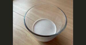 チョコレートスムーズを牛乳で作った画像