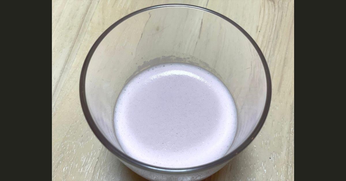マイプロテインのラズベリー味泡立ちの画像